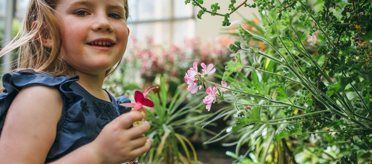 Girl in the Conservatory