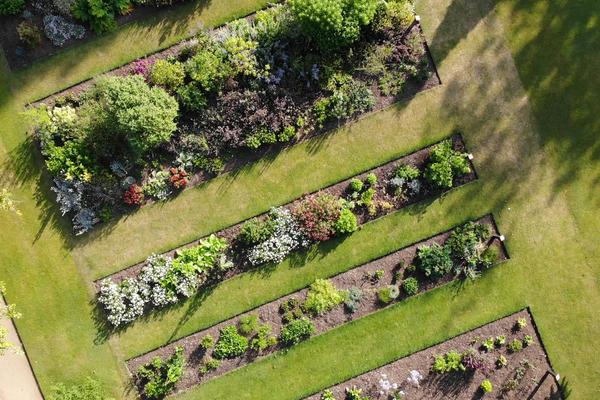 botanic garden drone  taxnomic beds 3  summer