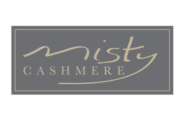 misty cashmere logo with border