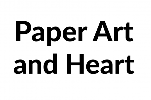 paper art and heart